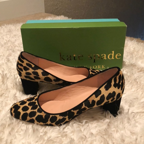 f11adddf85d ❤️Kate Spade Leopard Heels Sz - 8.5❤️